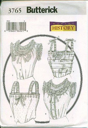 Amazon.com: Butterick 3765 Victorian Camisole Retro Costume Sewing ...