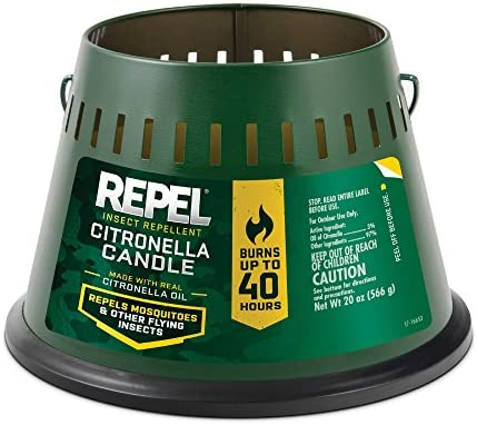 Repel Insect Repellent Citronella Candle, Triple Wick, 20-Ounce, 6-Pack
