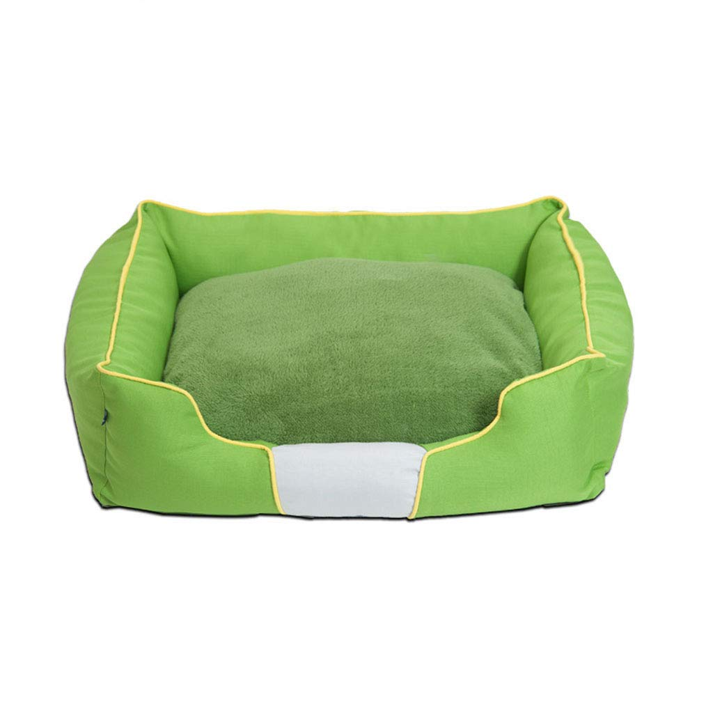 Zaino Cuscino lavabile lavabile in panno di Oxford Indossabile morso resistente doppio lato cuscino disponibile - Large Medium verde -48 62 75   98cm cani (dimensioni   75cm)