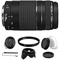 Canon EF 75-300mm f/4-5.6 III USM Telephoto Zoom Lens for Canon SLR Cameras with Ultimate Accessory Bundle