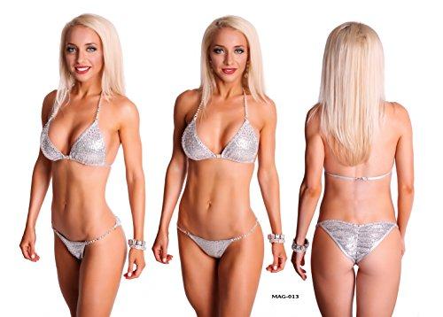 Elegantfitt Competition Bikini Suit with Swarovski Imitation Crystals