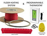 20 Sqft Warming Systems 120 V Electric Tile Radiant Floor Heating cable with GFCI Protected Programmable Thermostat