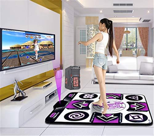 Skiout Double Dance Mats with Gamepad Dancing Blanket Dance Music Mixer Electronic Musical Play Mat for Adults/Children Tv Computer,B
