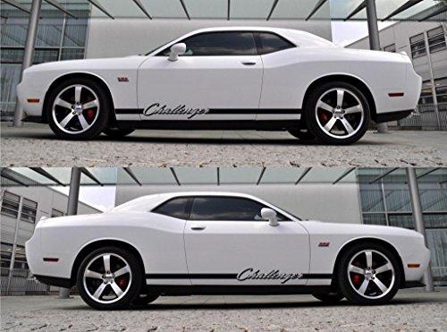 (Infinity-270 d0dge Challenger SRT R/T HEMI V6 V8 500 SE Coupe PXR Classic Stripes Sticker V6)