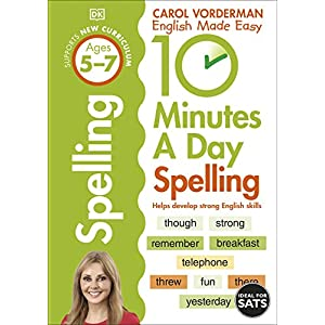 10-Minutes-A-Day-Spelling-Ages-5-7-Key-Stage-1-Made-Easy-Workbooks-Paperback--16-Jan-2014