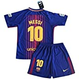 Messi #10 NEW 2017-2018 FC Barcelona Home Jersey & Shorts for Kids/Youth