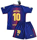 StarSoccer Messi #10 New 2017-2018 FC Barcelona Home Jersey & Shorts for Kids/Youth (9-10 Years Old)