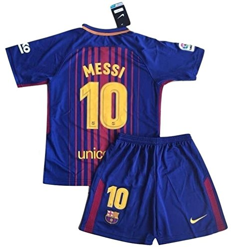 #10 FC Barcelona Home Jersey & Shorts for Kids/Youth (9-10 Years Old) (Fc Barcelona Champions League)