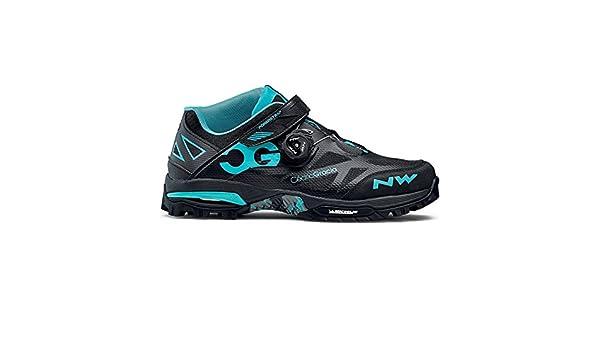 Zapatillas BTT Northwave Enduro Mid negro / aguamarina: Amazon.es: Zapatos y complementos