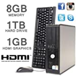 DELL PC HDMI 1000GB 8GB MEMORY CORE 2...