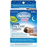 Hyland's Baby Nighttime Tiny Cold Tablets, Natural Symptom Relief of Runny Nose, Congestion, and Cold Symptoms at Night, 125 Count