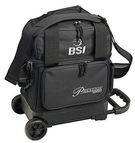 BSI Prestige Series Single Ball Roller Bag (Black/Silver Logo) by BSI