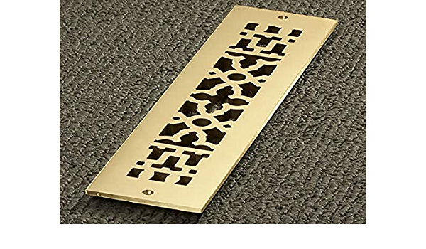 Reggio Registers 416 Bh Reggio Registers 416 Bh Scroll Series 14 X 2 1 4 Grille With Mounting Holes Amazon Com
