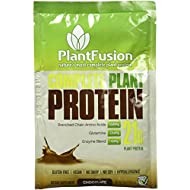 PlantFusion Complete Plant Based Protein Powder, Chocolate, Single Serving Packet, Single Sample, Gluten Free, Vegan, Non-GMO, Packaging May Vary, 1.06 Ounce