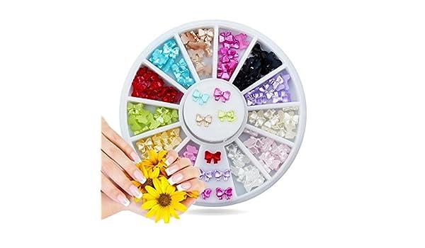 dfly 1 pc uñas DIY uñas Decoraciones (caja 12 Color Encanto ...