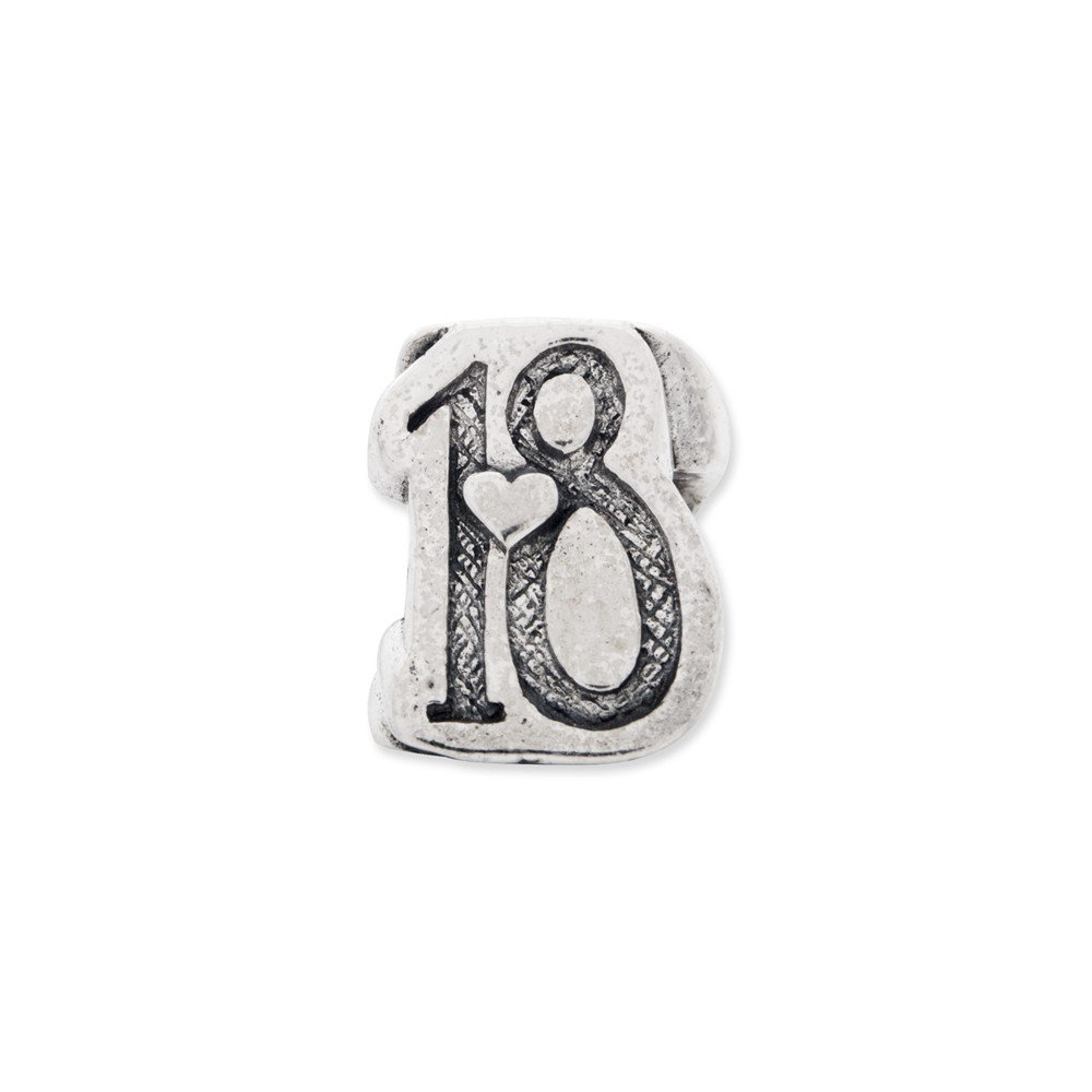 Sterling silver Reflections Sweet 18 Bead