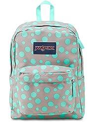 JanSport Superbreak Girly School Backpack B1020: Grey Rabbit Sylvia Dot