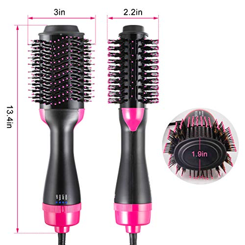 One Step Hair Dryer & Volumizer, Hot Air Brush All In One Hair Brush and Dryer Professional Negative Ion Hair Hot Comb, Black by Gelma (Image #7)