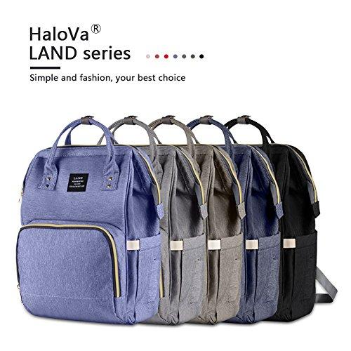 HaloVa Diaper Bag Multi-Function Waterproof Travel ...
