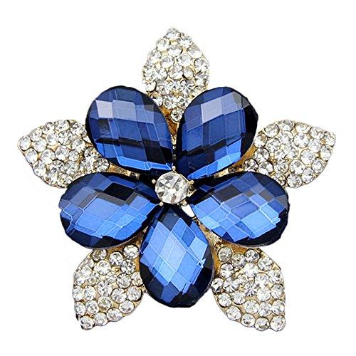Snowflake Brooch Crystal (Danbihuabi 18k Gold Plated Glass Crystal Rhinestone Snowflake Flower Brooch(r...)
