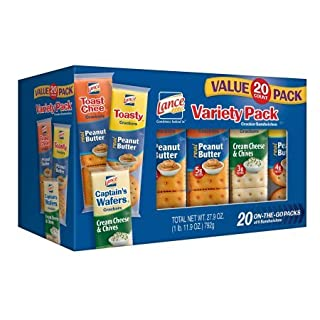 Lance Sandwich Crackers Variety Pack, 20 Count