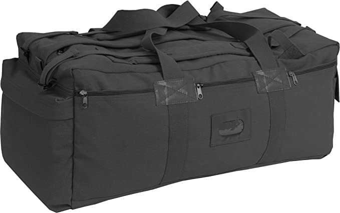 Amazon.com  Black Israeli Military Mossad Tactical Carry Duffle Bag with  Backpack Straps  Clothing 66526c795dd3e