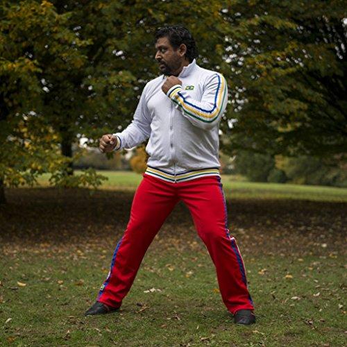 Original Brasilianische Capoeira Hose Unisex Red Abada Martial Arts Elastische Pants.