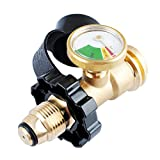Propane Tank Gauge Level Indicator Leak Detector Gas Pressure Meter Universal for BBQ Gas Grill,Cylinder,RV Camper Heater Adapter Connector Check Gauge Meter