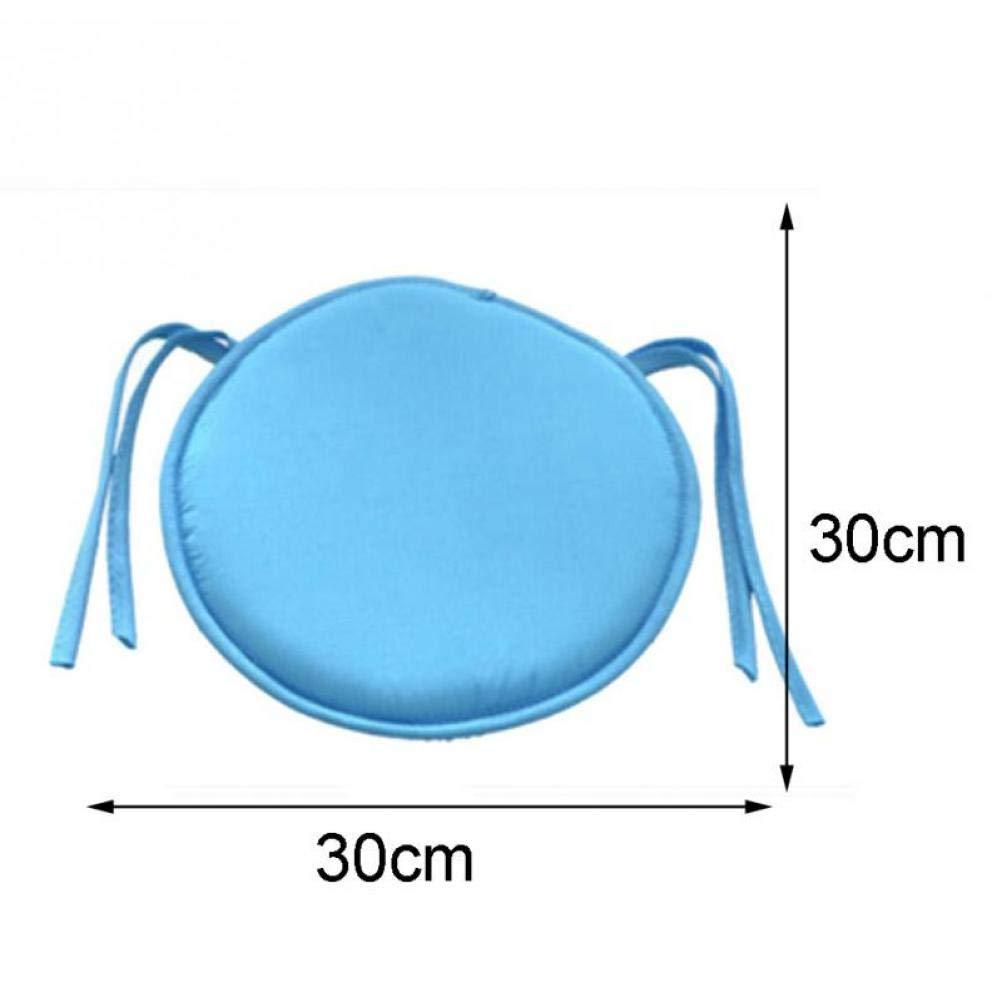 PiniceCore Nuovo Breve Solid Coperta da Pranzo Garden Home Patio Cucina Rotonda sede Sedia Pad Cuscino con Quattro Legami 30cm x 30 Centimetri di Grigio