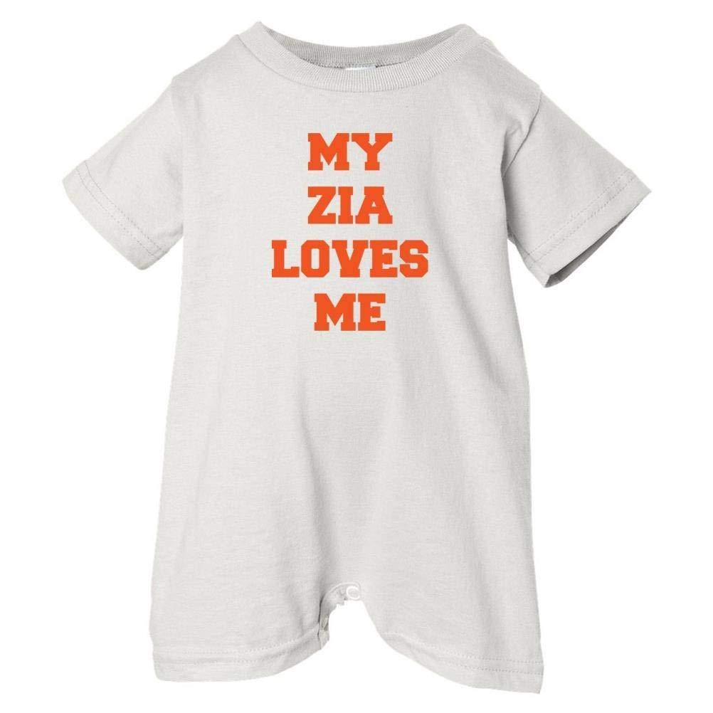 Unisex Baby My Zia Loves Me T-Shirt Romper So Relative