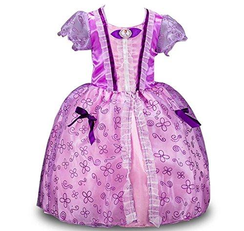 Oem Filles Des Enfants De Conte De Fées Costume De Princesse Habiller Sofia 3-10 Ans