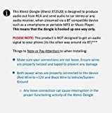 Xtenzi Wireless 12V RCA AUX Adapter, Dongle for
