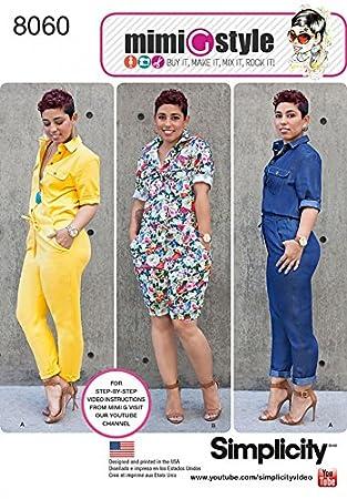 Simplicity Muster, Nähen, 8060 lang und kurz Jumpsuits: Mimi G Style ...