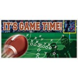 football decoration for party - Football Frenzy Birthday Party Large Horizontal Banner Decoration, Plastic, 65