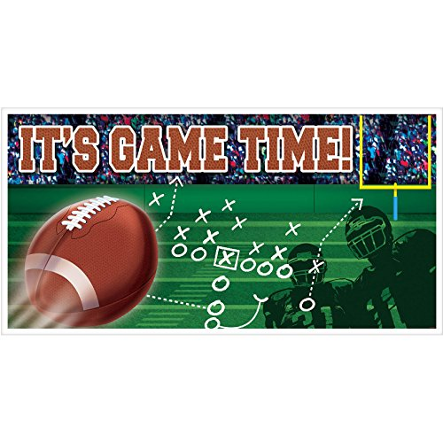 - Amscan Football Frenzy Birthday Party Large Horizontal Banner Decoration, Plastic, 65