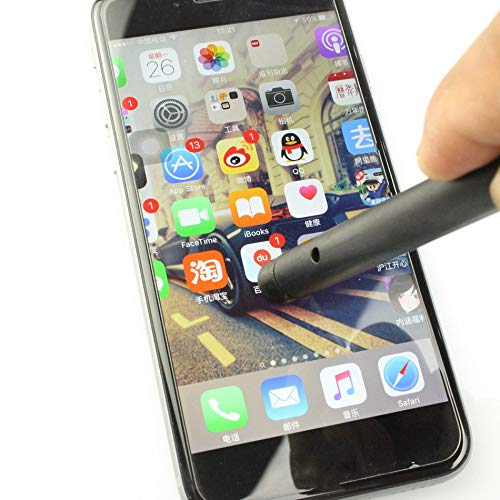 Libertroy L/ápiz de Pantalla t/áctil L/ápiz /óptico L/ápiz de Pantalla t/áctil Universal L/ápiz /óptico Capacitivo para la Tableta de tel/éfono Inteligente para iPad Punta Redonda Punta Fina Negro