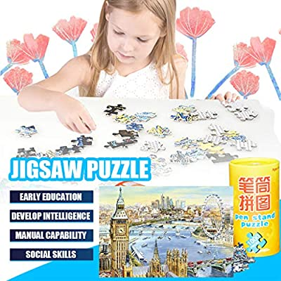 DTgirl London Big Ben Oil Painting Architectural Landscape Jigsaw Puzzles 1000 Pieces for Adults Children's Puzzle Toy, Jigsaw Puzzle, DIY Collectibles Modern Home Decoration (A): Toys & Games