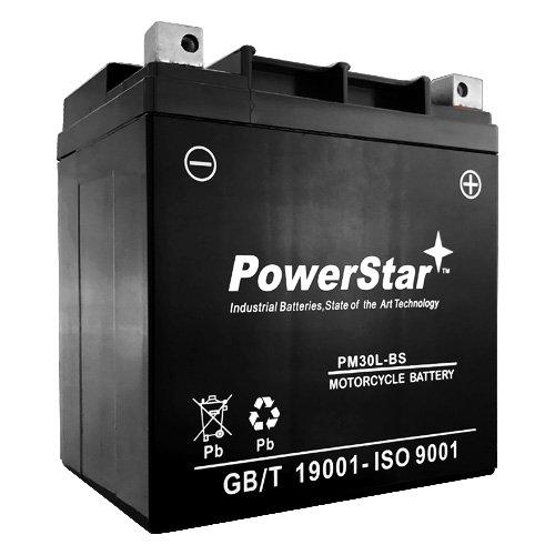 Powerstar ETX30L Ps30l-bs Battery YTX30L-BS High Performance Power Sports Battery Super Crank by POWERSTAR