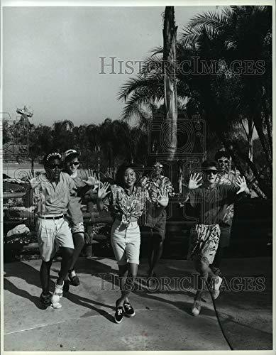 Historic Images - 1989 Press Photo Mouseketeers Performing Iko Iko During Typhoon Lagoon Dance (Typhoon Lagoon)