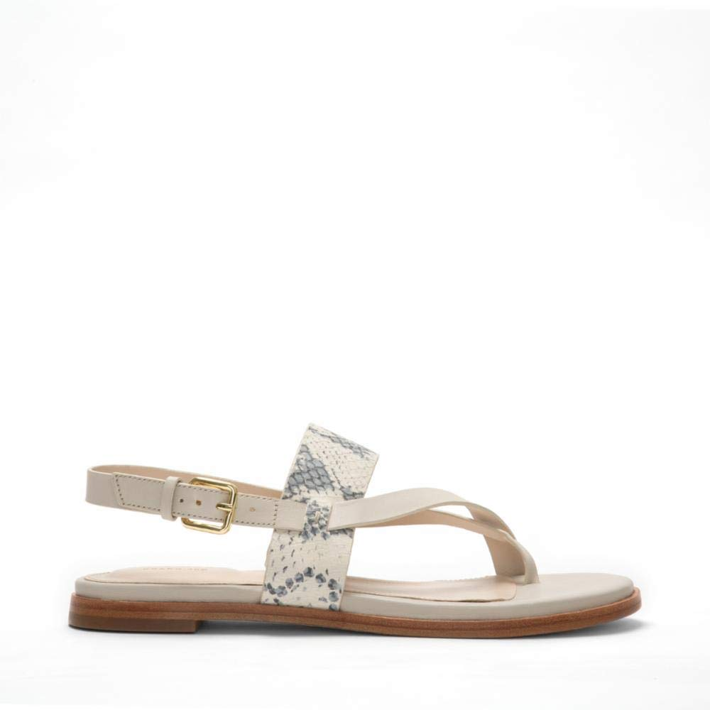 W14756 Ivory Roccia Prt Pumice Cole Haan Womens G.os Anica Thong Sandal Flat Sandal