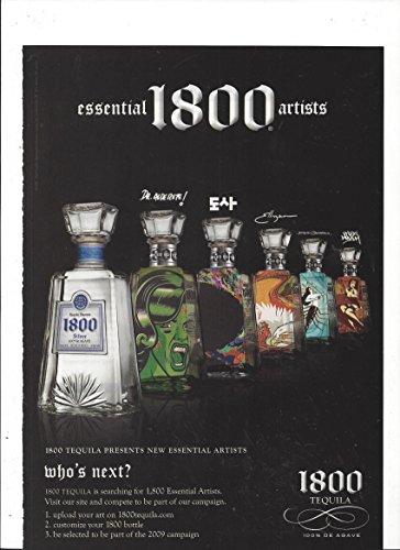 MAGAZINE ADVERTISEMENT For 2008 Cuervo 1800 Tequila Essential Artist's Bottles