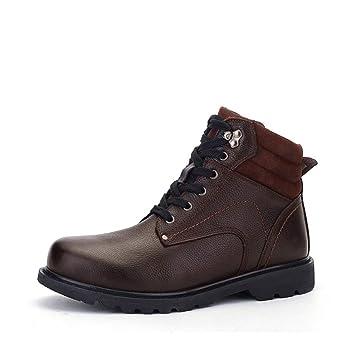 Zapatos de hombre Calzado de hombre, botines de terciopelo extra grandes de terciopelo para hombre