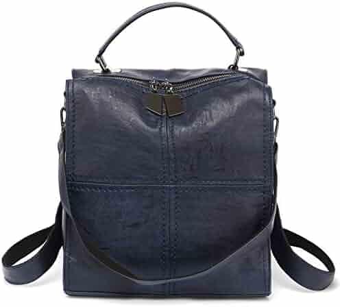 cf6ff46b5b28 Women Backpack Purse Leparvi PU Leather Fashion Shoulder Bag Square Cute  Backpack Rucksack Tote Handbag Purse