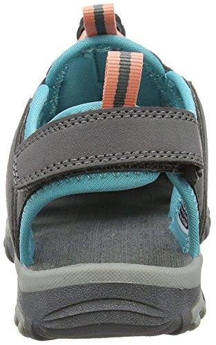 Hi-Tec Cove Junior, Sandalias de Senderismo para Niñas Gris (Cool Grey/curacao Blue/papaya Punch 055)