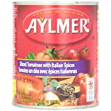 Aylmer Diced Tomatoes Italian Spices, 796 Milliliters- pack of 12