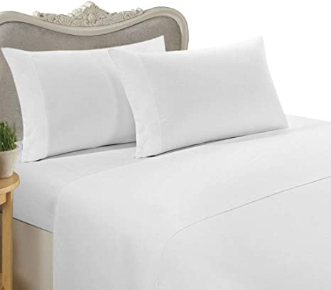 A Lot Of 2 Fitted Sheet White Solid 1000TC Egyptian Cotton King Size