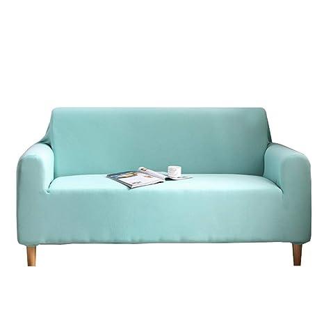 TXVSO Home Sofá Funda de Color sólido Cubierta de Tejido elástico Fácil Ajuste elástico Protector de sofá Lavable, Anti-ácaros y Antiarrugas (1 ...