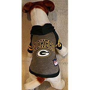 Pets First GREEN BAY PACKERS DOG PET HOODIE SWEATER ALL SIZES LICENSED NFL (Small)