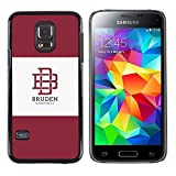 # Cellphone Hard Case PC Protective Cover Shell Case forSamsung Galaxy S5 Mini, SM-G800 # university brand maroon logo student # Gift Phone Case Housing #