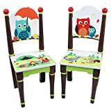 Fantasy Fields Enchanted Woodland Thematic Kids Wooden 2 Chairs Set | Imagination Inspiring Hand Crafted & Hand Painted Details | Non-Toxic, Lead Free Water-based Paint